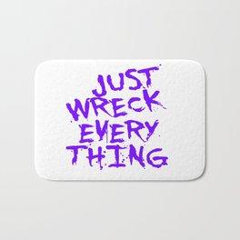Just Wreck Everything Violet Blue Grunge Graffiti Bath Mat