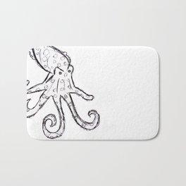 Octopus - Original Pen Ink Sketch Bath Mat