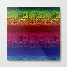 talavera mexican tile multicolours Metal Print