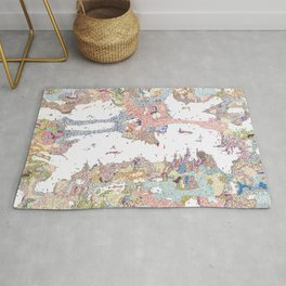 Abstract colour drawing floral Rug