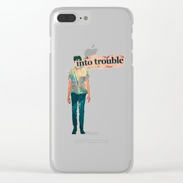 Boy (Into) Trouble Clear iPhone Case