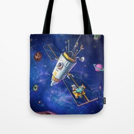 Bird in space Tote Bag