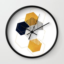 Minimalist Geometric Abstract Wall Clock