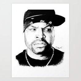 N.W.A. Series, Ice Cube Art Print