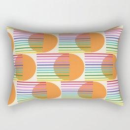 Tangerine Rainbow White Rectangular Pillow