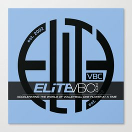 Elite Black/Powder w/ Badge Logo Canvas Print
