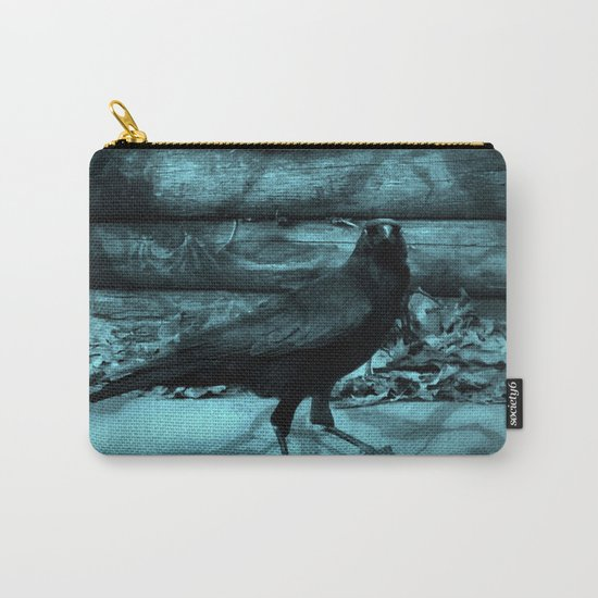 Blue Crow Shadows Carry-All Pouch
