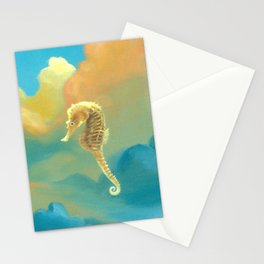 Sea Horses Stationery Cards