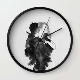 You are my peaceful heaven b&w. Wall Clock