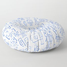 Robot Crowd Floor Pillow