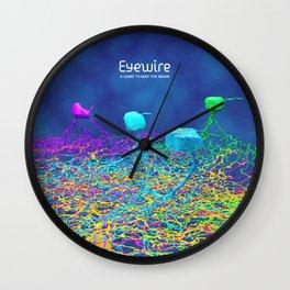 Ganglion Neurons on Blue Wall Clock