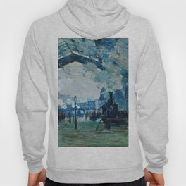 Claude Monet - Arrival Of The Normandy Train, Gare Saint Lazare Hoody