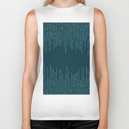 Rain of Sparkle Teal Biker Tank