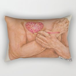 Embrace love Drawing Rectangular Pillow