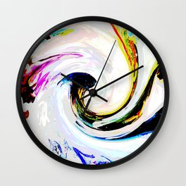 496 - Abstract Colour Design Wall Clock
