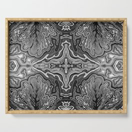 Abstract #4 - V - High Contrast Black & White Serving Tray