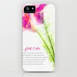 Pink Calla iPhone Case