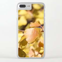 Late Fall Hawthorn Leaves Clear iPhone Case