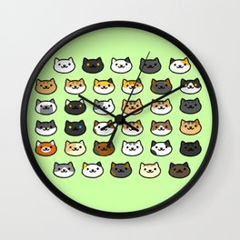 CAT BACKYARD v2 Wall Clock