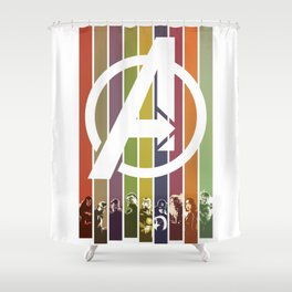 VINTAGE OF ULTRON Shower Curtain