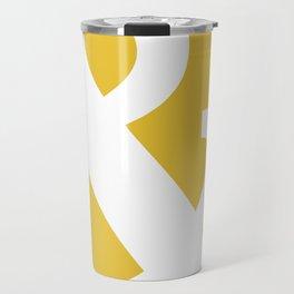 Ampersand Mustard Yellow Travel Mug