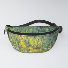 Weeping Willow by Claude Monet Fanny Pack