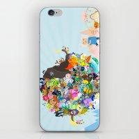 katamari iPhone & iPod Skins featuring Adventure Time - Land of Ooo Katamari by Sin nombre
