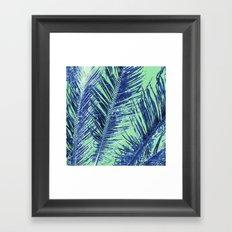 Tropical Palm Blue Framed Art Print