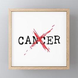 Annihilate Cancer (Black Text) Framed Mini Art Print
