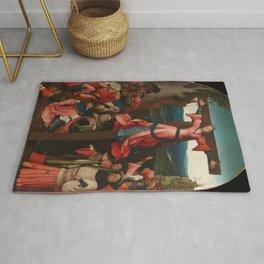 "Hieronymus Bosch ""The Crucifixion Of Saint Julia"" Rug"