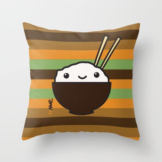Ricebowl Throw Pillow