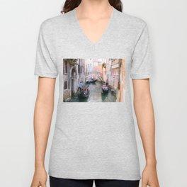Exploring Venice by Gondola Unisex V-Neck