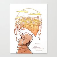 catcher in the rye Canvas Prints featuring Catcher in the Rye by Colleen Clark