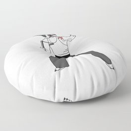 Kungfu Bulldog Lee Floor Pillow