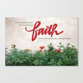Through faith. Canvas Print