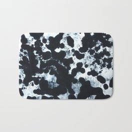 Black and White Painted Dye Abstract #2 Bath Mat