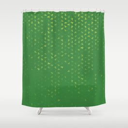 Aries Zodiac Sign Pattern gr Shower Curtain