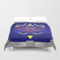 shield Duvet Covers featuring Zelda Shield by Janismarika