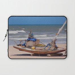 Rustic fisher boat in Brazil Laptop Sleeve
