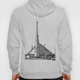 Dallas Texas LDS Temple Ink Drawing Hoody