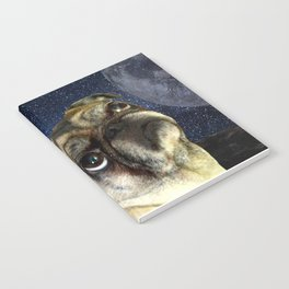 Pug and Moon Notebook