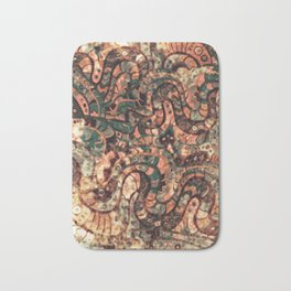 Batik abstract pattern Bath Mat