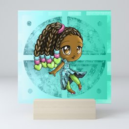 Happy African American Girl Mini Art Print