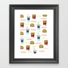 Burger Print Framed Art Print