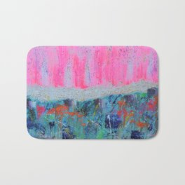 I WILL MEET YOU ON TOP OF THE MOUNTAIN - abstract expressionism original art Bath Mat