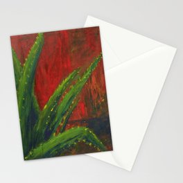 Study of an Aloe Plant Stationery Cards