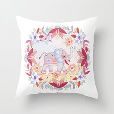 pretty little elephant Throw Pillow