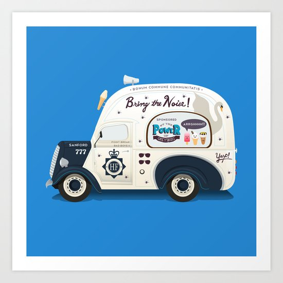 Ode To Cornetto Part 2 Art Print