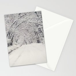 Winter Road Stationery Cards