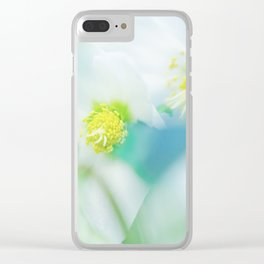 Soft hellebores Clear iPhone Case